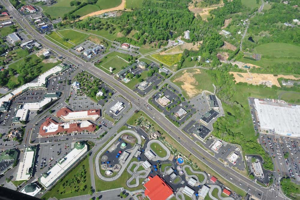 aerial sevierville