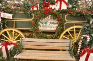 Christmas decorations at the Apple Barn Village.