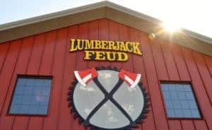 The exterior of the Lumberjack Feud in Pigeon Forge TN.