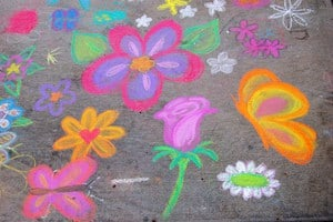 flower chalk art